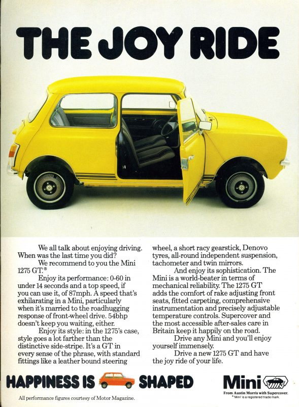 Mini 1275 Gt The Forgotten Flagship Model Patinas Picks
